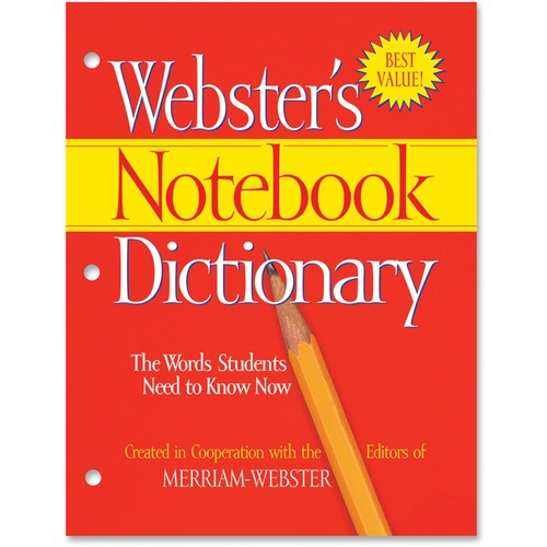Notebook Dictionary, Three Hole Punched, Paperback, 80 Pages | by Plexsupply