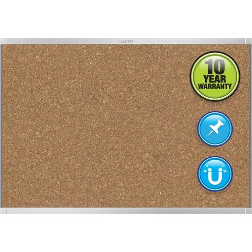 Quartet Aluminum Prestige 2 Magnetic Cork Board