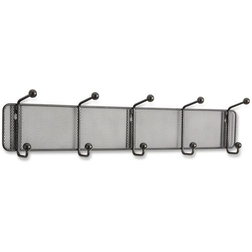 Safco Onyx 5-hook Steel Mesh Wall Rack