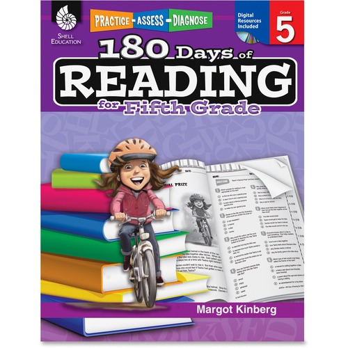 Shell Practice, Assess, Diagnose: 180 Days of Reading for Fifth Grade Education Printed/Electronic Book by Margot Kinberg - English