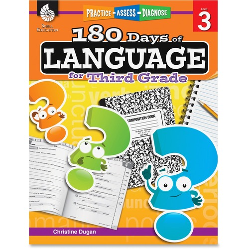 Shell Practice, Assess, Diagnose: 180 Days of Language for Third Grade Education Printed Book by Christine Dugan