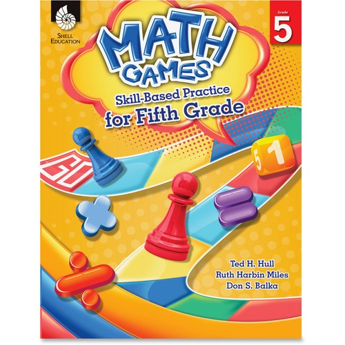 Shell Math Games: Skill-Based Practice for Fifth Grade Education Printed Book for Mathematics by Ted H. Hull, Ruth Harbin Miles, Don Balka - English
