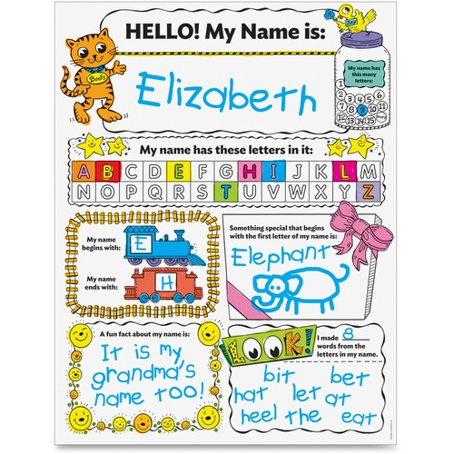 Scholastic Personal Poster Set: My Name Education Printed Book by Liza Charlesworth - English
