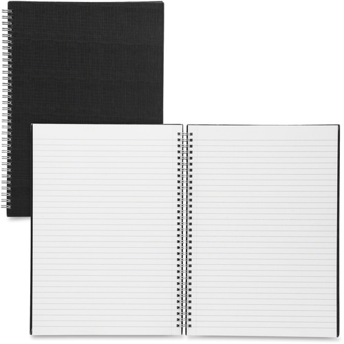 Sparco Black Linen Cover A4 Notebook | by Plexsupply