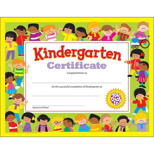 Trend Kindergarten Certificates | by Plexsupply