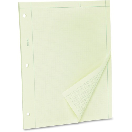 Tops Green Tint Engineer's Quadrille Pad | by Plexsupply
