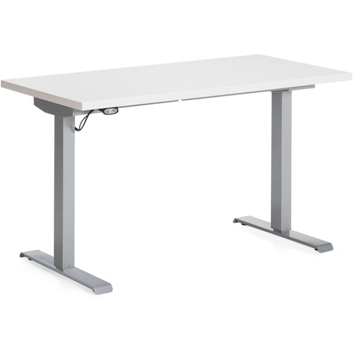 Global FOLI SittoStand Height Adjustable Table GLBPHATWHT - T shaped conference table