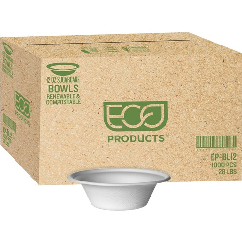 Eco-Products 12-oz. Sugarcane Bowls | by Plexsupply