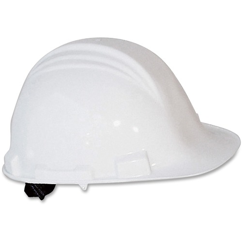 A-Safe Peak Hard Hat, 4-Point Ratchet Suspension, White | by Plexsupply
