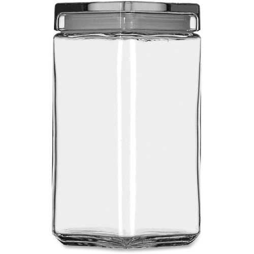 Office Settings Anchor Hocking Clear Glass Jar