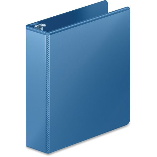 "Heavy-duty d-ring view binder w/extra-durable hinge, 2"" cap, pc blue, sold as 1 each"
