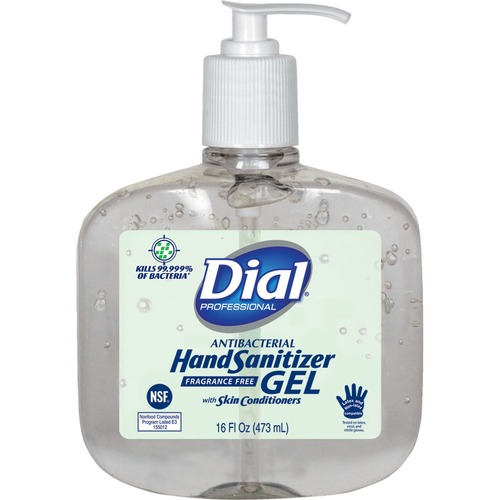 Dial Professional Antibacterial Hand Sanitizer 16 oz 8 each per carton