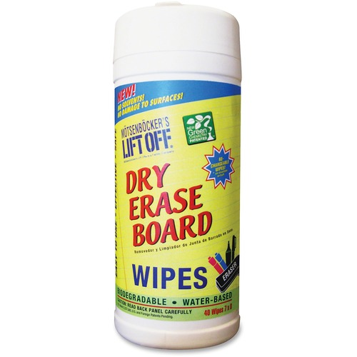 Motsenbocker Lift Off Dry Erase Brd Cleaner Wipes | by Plexsupply