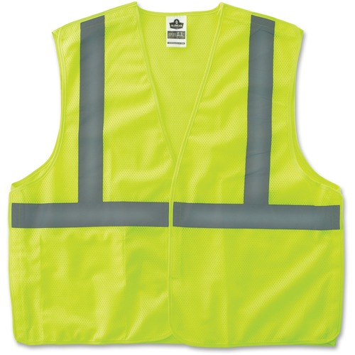 Ergodyne GloWear Lime Econo Breakaway Vest | by Plexsupply