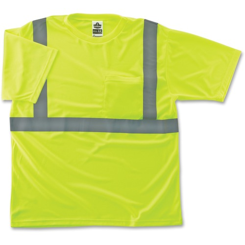 Ergodyne GloWear Class 2 Reflective Lime T-Shirt | by Plexsupply