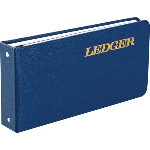 "Ring binder ledger,a-z tab index,100-pg,5-1/2""x8-1/2"",be cvr, sold as 1 each"