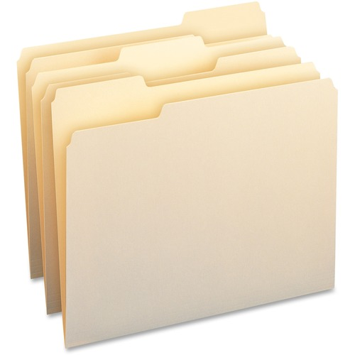 Bus. Source 1/3-cut Cutless Manila File Folders | by Plexsupply