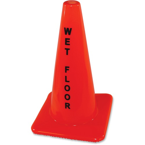 Impact Wet Floor Orange Safety Cone | by Plexsupply