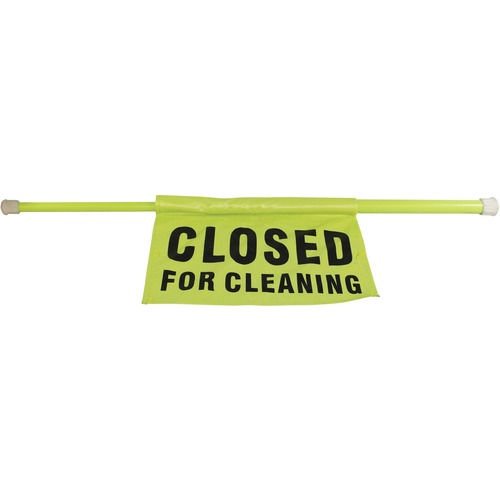 Impact Closed For Cleaning Safety Sign Pole | by Plexsupply