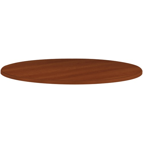 HON Cylinder Base Round Tabletop Table | by Plexsupply