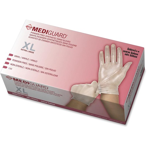 Medline MediGuard Vinyl Non-sterile Exam Gloves | by Plexsupply