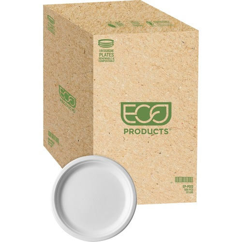 Eco-Products Sugarcane Plates | by Plexsupply