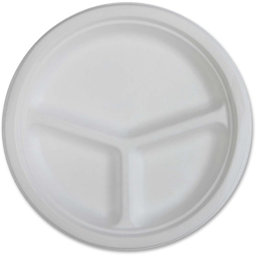 Genuine Joe 3-compartment Disposable Plates | by Plexsupply