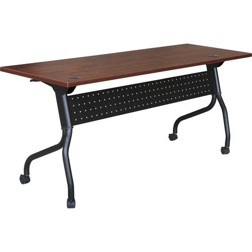 Lorell Cherry Flip Top Training Table | by Plexsupply