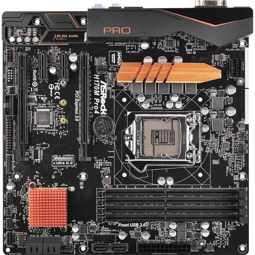 ASRock H170M Pro4 Desktop Motherboard - Intel H170 Chipset ...