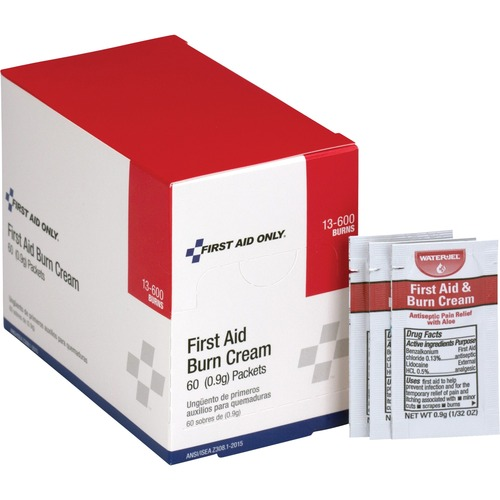 First Aid Only Burn Cream Packets | by Plexsupply