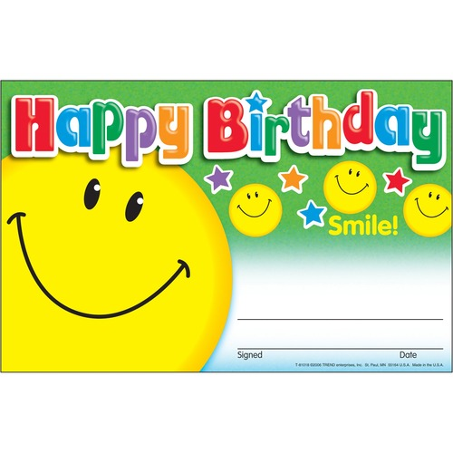Trend Happy Birthday Smile Recognition Awards | by Plexsupply