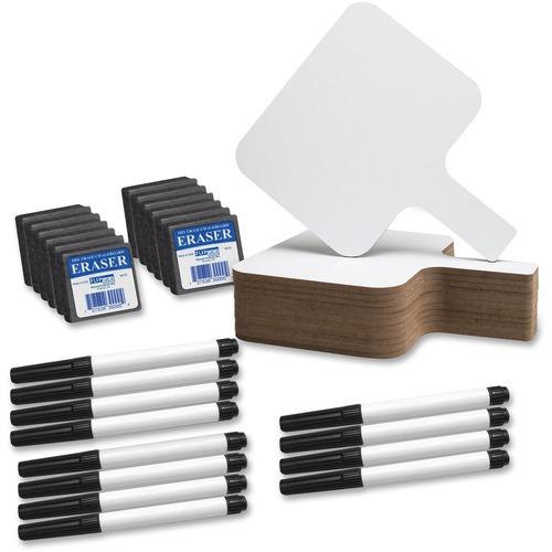 Flipside Prod. Rectangular Dry Erase Paddle Set | by Plexsupply