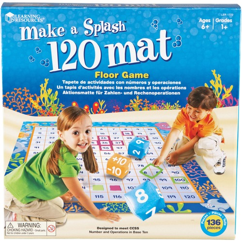 Learning Res. Make A Splash 120 Mat Floor Game | by Plexsupply