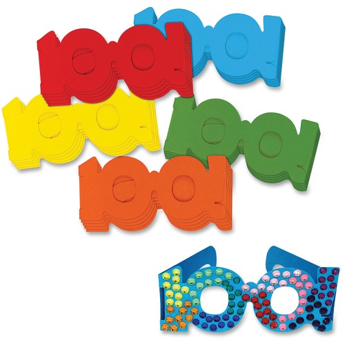 Chenille Kraft 100th Day Paper Fun Glasses | by Plexsupply