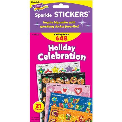 Trend Holiday Celebration Little Sparkler Stickers | by Plexsupply