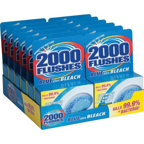 WD-40 2000 Flushes Blue/Bleach Bowl Cleaner