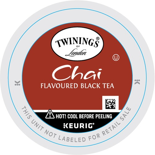 Twinings 100% Organic & Fair Trade Certified Tea Chai Flavoured Black Tea K-Cup