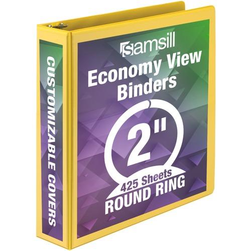 Samsill Economy Round-Ring View Binder