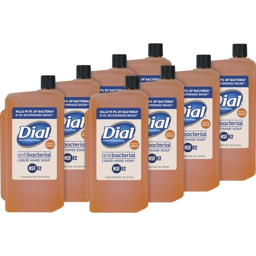 Dial Original Gold Antimicrobial Soap Refill 33.8 fl. oz 8 each per carton
