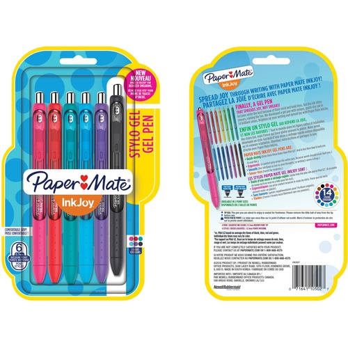 Paper Mate Medium Point 0.7mm Assorted Colors Gel Pens