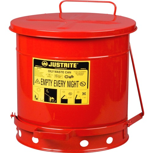 Just Rite 10-gallon Oily Waste Can | by Plexsupply