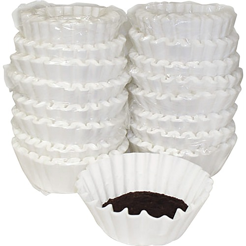 Coffee Filters, Paper, Basket Style, 12 to 15 Cups, 800/Carton | by Plexsupply