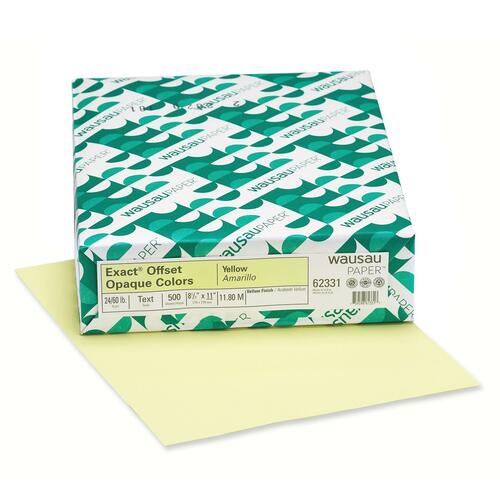 Wausau Paper Corp. Exact Offset Opaque Pastel Colored Paper