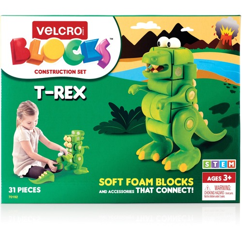 VELCRO Brand Soft Blocks T-Rex Construction Set