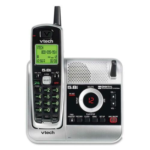 vtech t2453 rf 2 40 ghz cordless phone white vtet2453 rh fridandrussell com 5.8 GHz Telephones VTech Cordless Phones in Pink