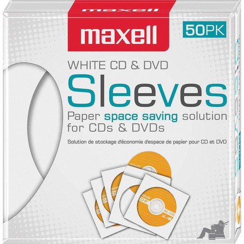 Maxell White CD / DVD Sleeves  | by Plexsupply