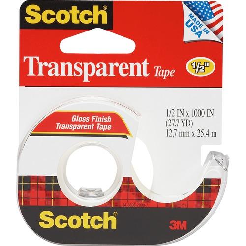 3M Scotch Gloss Finish Transparent Office Tape | by Plexsupply