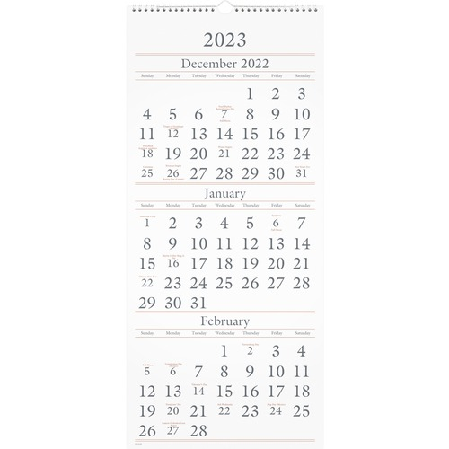 aag sw11528 at a glance 3mpp wirebound hanging wall calendar aagsw11528