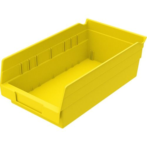 "Akro-Mils Shelf Bin, 4"" x 6.62"" x 11.62"" - Polypropylene - Yellow"