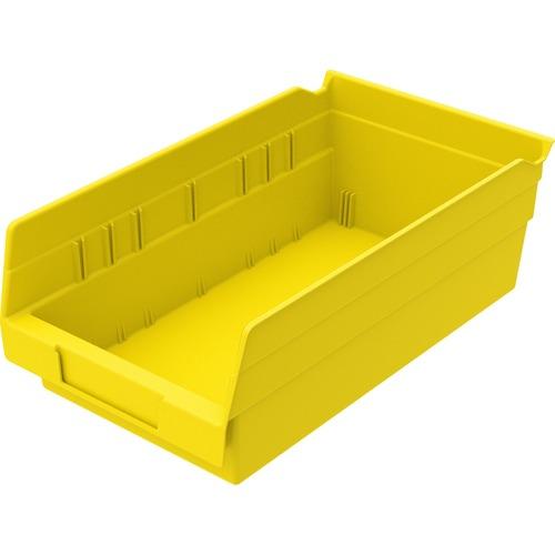 "Akro-Mils Shelf Bin, 4"" x 6.62"" x 11.62"" - Polypropylene - Yellow"